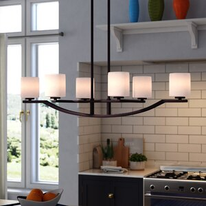 Simsbury 6-Light Shaded Chandelier
