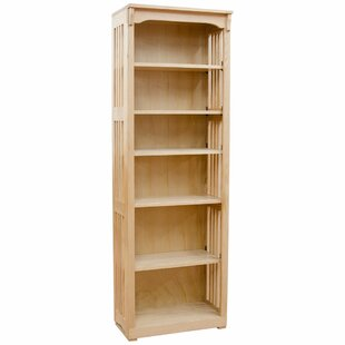Amansara Solid Spindle Standard Bookcase By Canora Grey