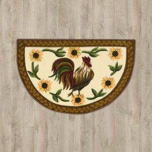 Round Rooster Rugs Wayfair