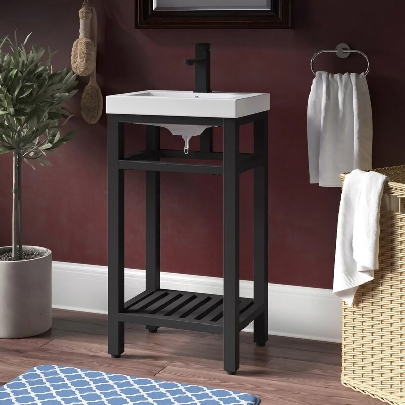 Bay Isle Home Flatt 18 Single Bathroom Vanity Set Reviews Wayfair