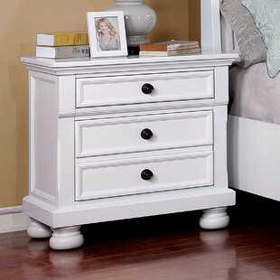 Alcott Hill Hoch 3 Drawer Nightstand