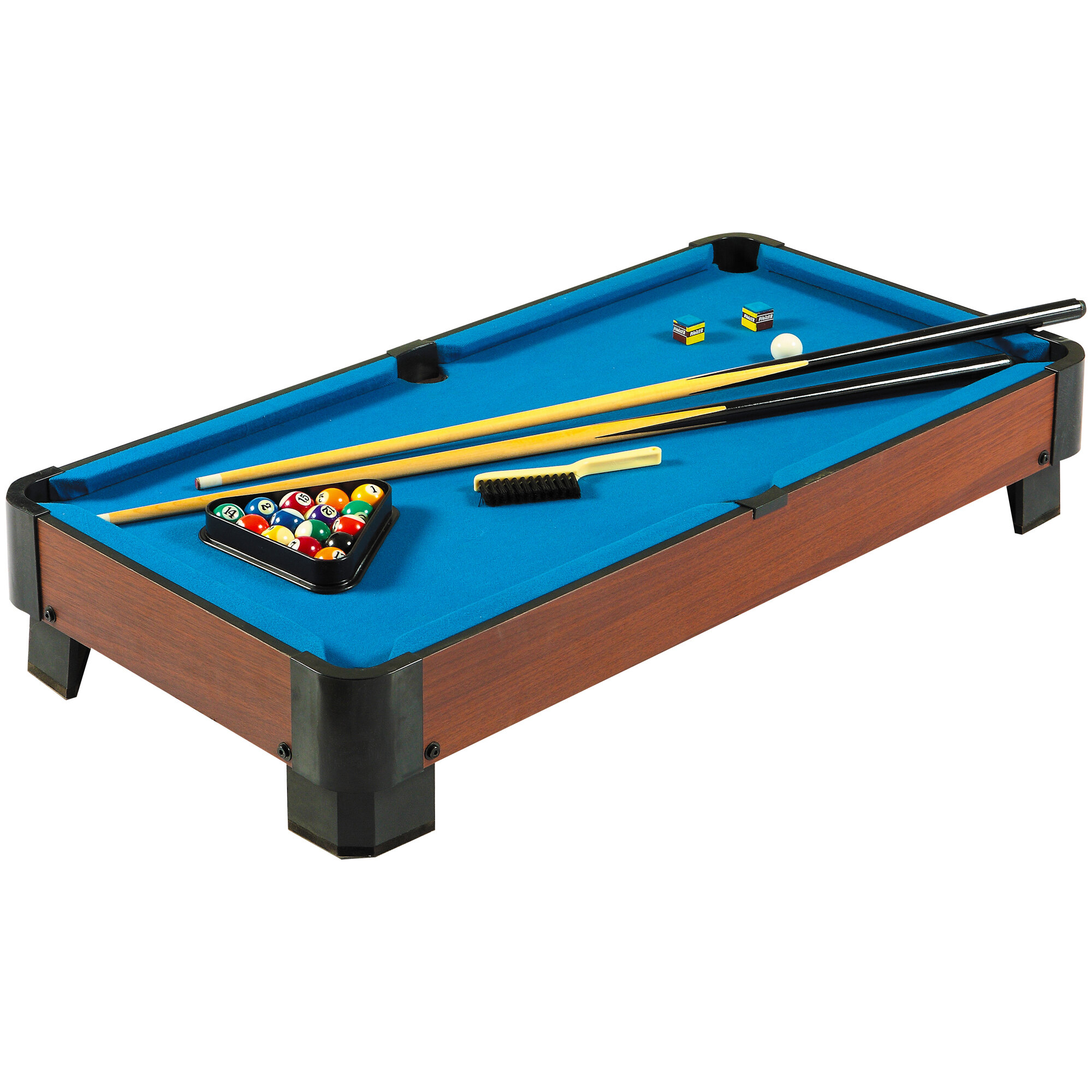 3-Place Black Extreme Portable Pool//Billiards Cue Stick Table Top Holder