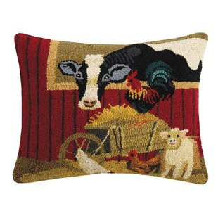 Owens Farm Friends Hook Throw Pillow