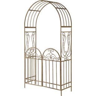 National Tree Co. Garden Accent Metal Decoration Steel Arbor