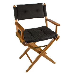 Erika Folding Director Chair with Cushion by Longshore Tides
