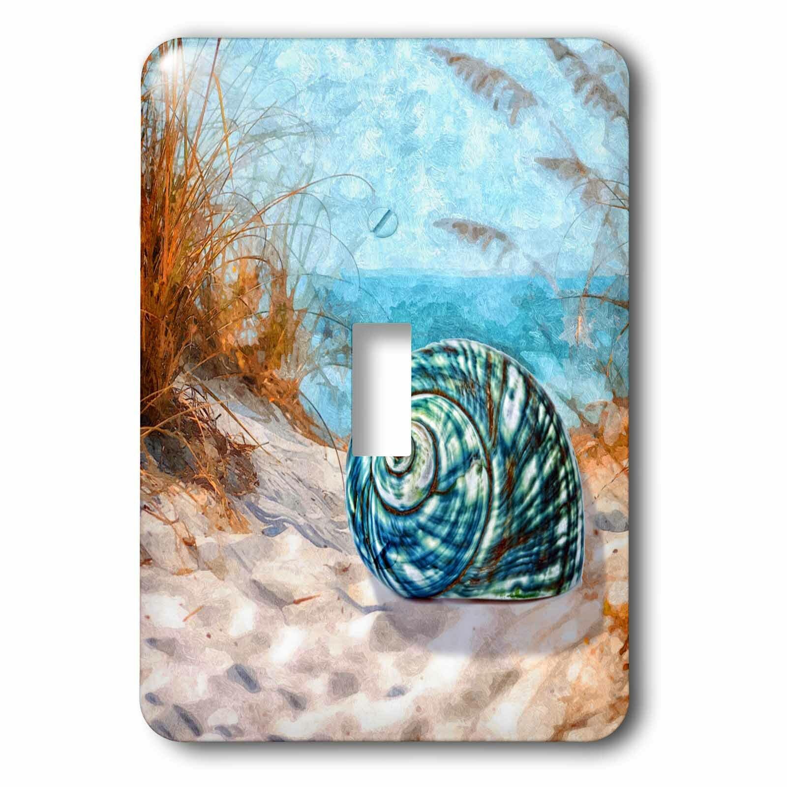 3drose Seashell On The Beach 1 Gang Toggle Light Switch Wall Plate Wayfair