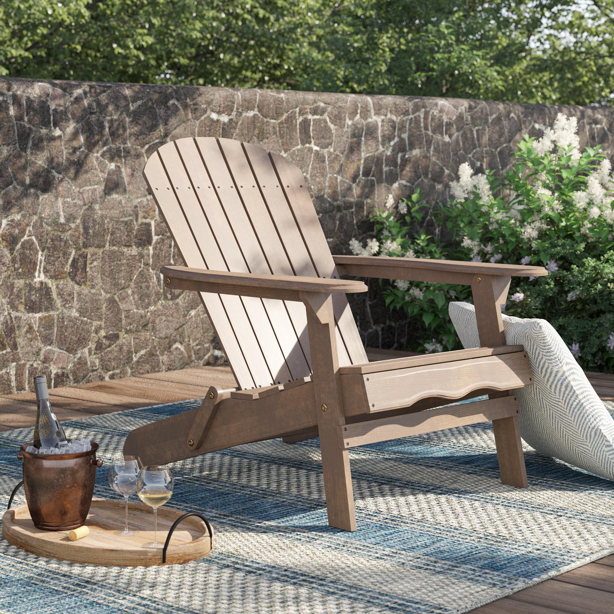 Ridgeline Solid Wood Folding Adirondack Chair Reviews Birch Lane