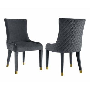 Everly Quinn Diego Upholstered Dining Chair (Set of 2)