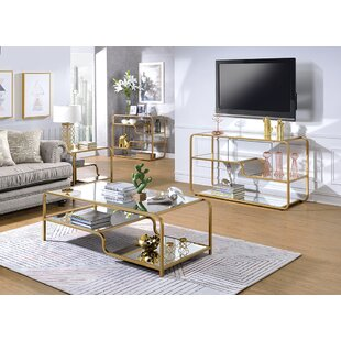 Everly Quinn Gauvin 3 Piece Coffee Table Set