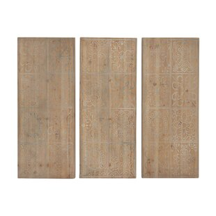 Superieur Rustic Chinese Wall Decor (Set Of 3)