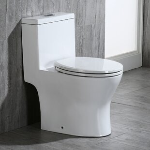 WoodBridge Dual Flush Round One-Piece Toi..