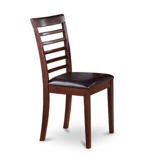 Picasso Side Chair with Faux Leather Seat..