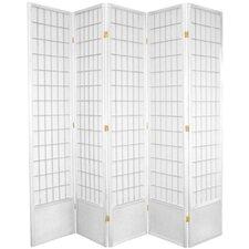 83.5 x 70 Window Pane Shoji 5 Panel Room Divider by Oriental Furniture