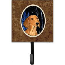 Starry Night Dachshund Leash Holder and Wall Hook by Caroline's Treasures