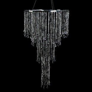 Bergstrom Iridescent Diamond Cut Bead Cascade Crystal Chandelier by House of Hampton