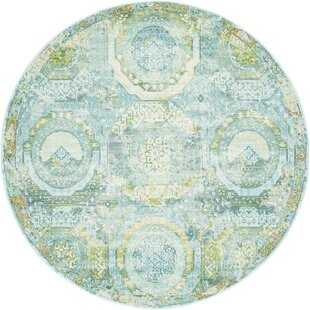 Lonerock Green/Light Blue Area Rug by Bungalow Rose