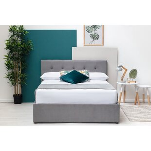 Litzy Double (4'6) Upholstered Bed Frame With Mattress - 25cm Double Pocket Sprung Memory By Willa Arlo Interiors