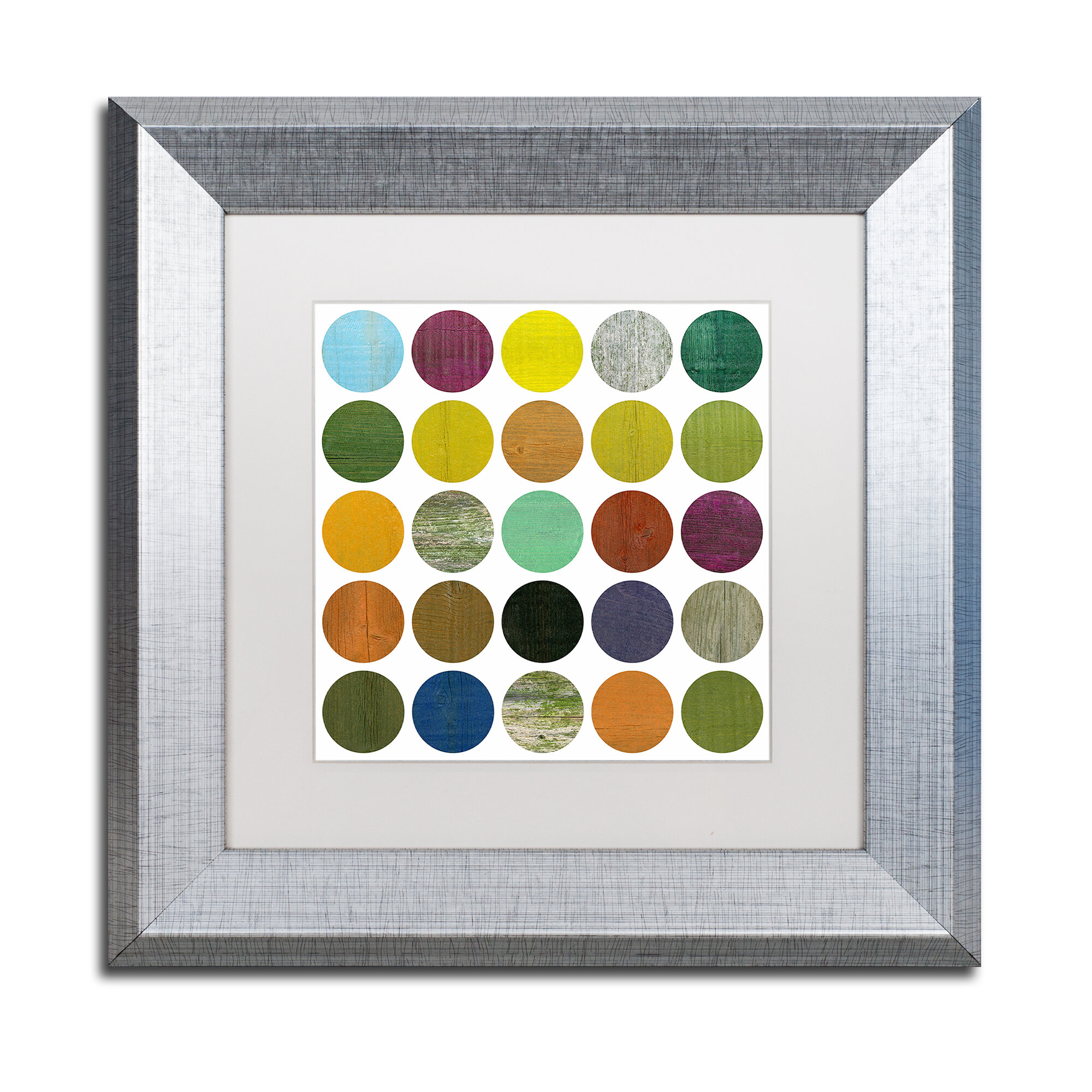 Trademark Art Rustic Rounds 4 0 By Michelle Calkins Framed Print On Canvas Wayfair