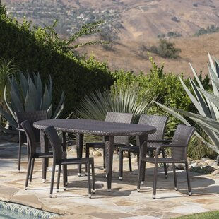 Corrigan Studio Soderlund Outdoor 7 Piece Dining Set