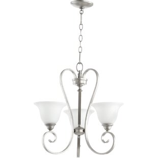 Loomis 3-Light Shaded Chandelier by Charlton Home
