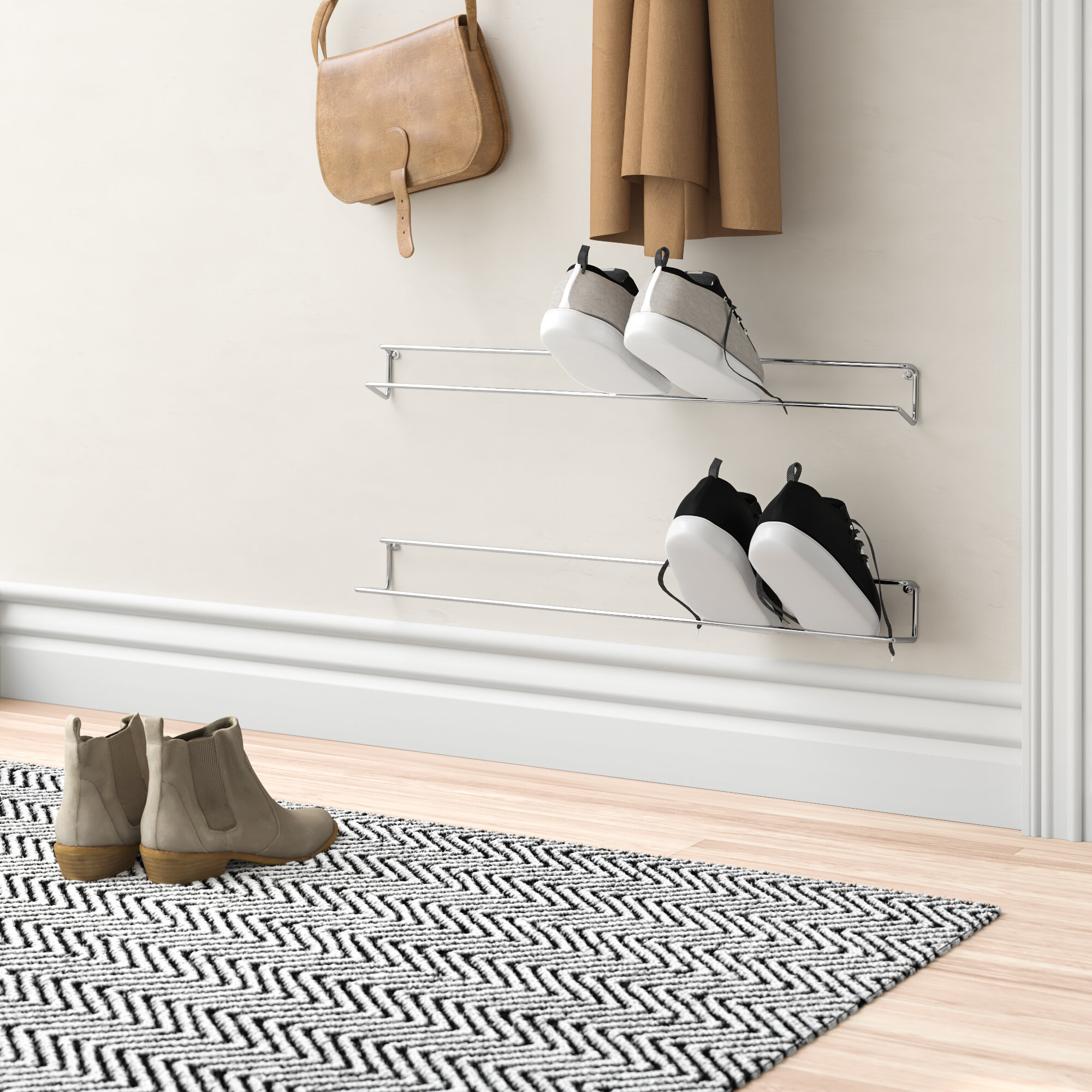 Mercury Row Wall Mounted Shoe Rack Reviews Wayfair Co Uk