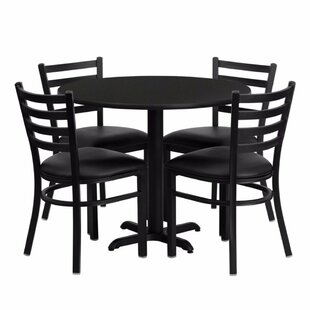 Pierron 5 Piece Dining Set Red Barrel Studio
