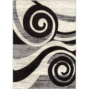 Larabee Gray/Black Area Rug ByEbern Designs