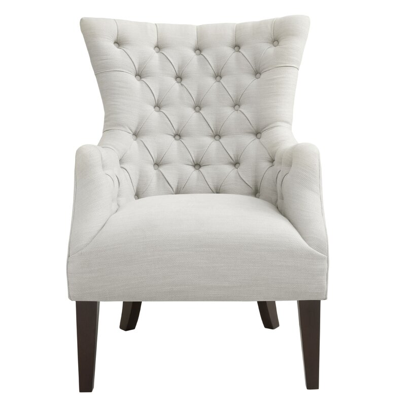 Beautiful Steelton Button Tufted Wingback Chair