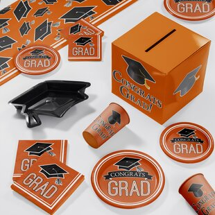 Graduation School Deluxe Party Paper/Plastic Supplies Kit