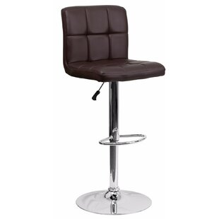 Cyrus Adjustable Height Swivel Bar Stool Orren Ellis