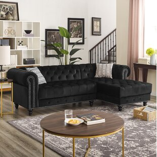Lora Velvet Right Facing Sectional