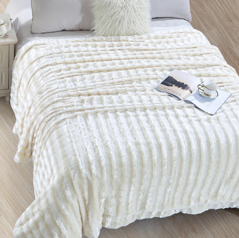 Mercer41 Alvarado Faux Fur Soft Blanket Reviews Wayfair