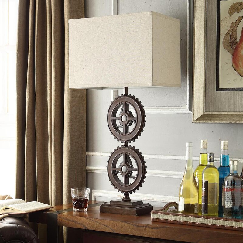 "Springs Metal Gears 32.5"" Table Lamp"