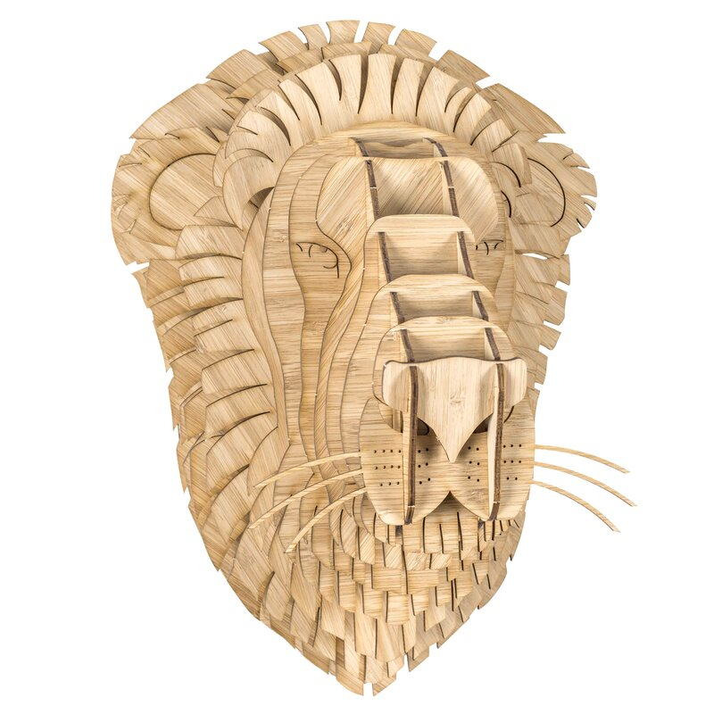 Antler Home Leon the Bamboo Lion Head Wall Décor | Wayfair