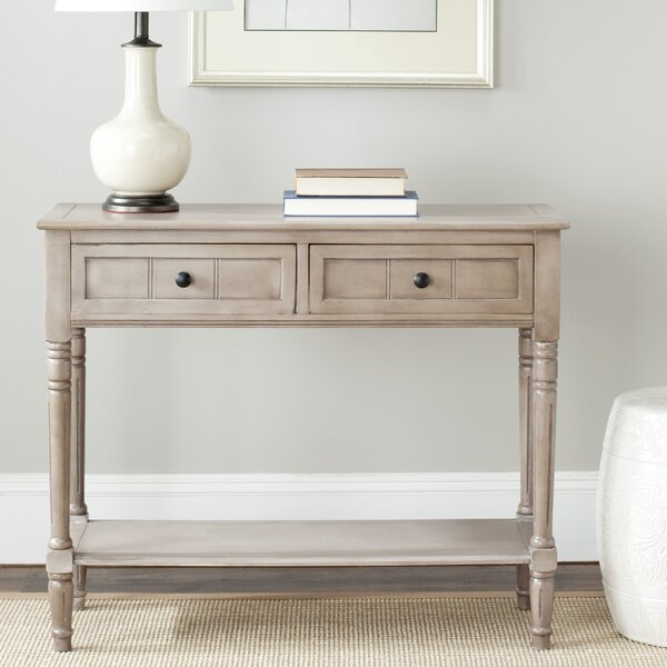 Beachcrest Home Manning 2 Drawer Console Table U0026 Reviews | Wayfair