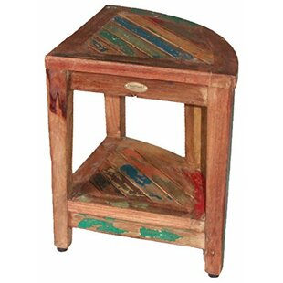 Oasis Recycled Reclaimed Salvaged Boat Wood Corner Table Bench by EcoDecors
