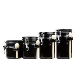 Black Kitchen Canisters Jars