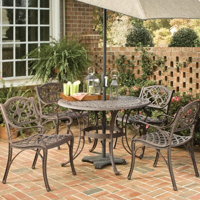 Ayleen 5 Piece Dining Set August Grove Table Size 48