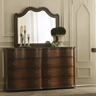 Darby Home Co Elwood 8 Drawer Double Dresser with Mirror