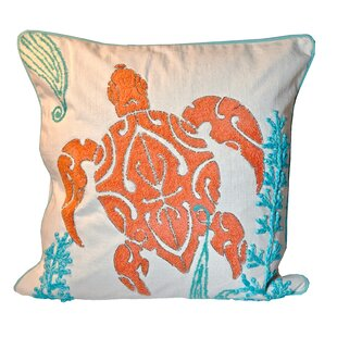Sabbattus Turtle 100% Cotton Throw Pillow