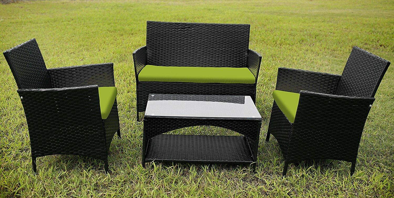 Merax Garden Furniture 4 Piece Sofa Set with Cushions Wayfair