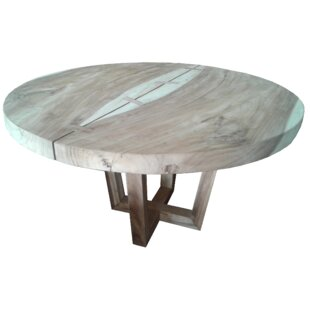 IKsunTeak Solid Wood Round Solid Wood Din..