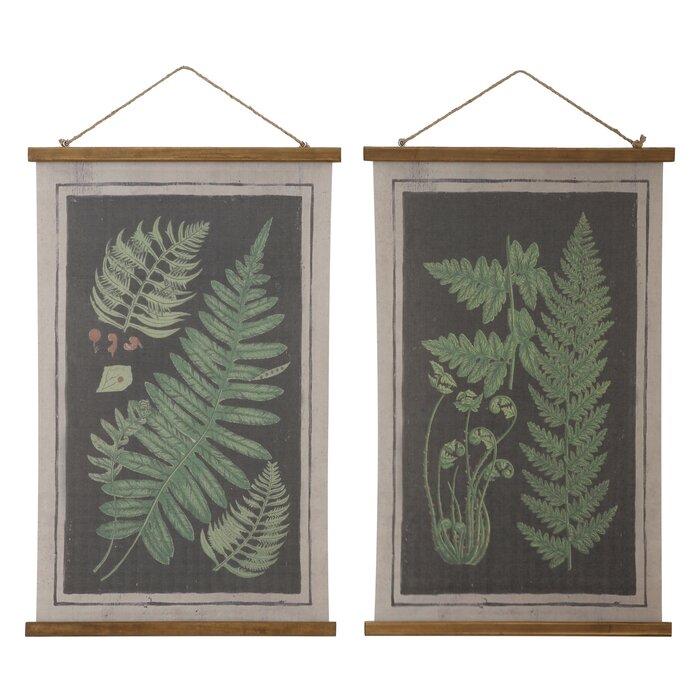 Botanical scrolls wall art
