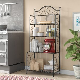 Snowberry Wrought Iron Baker's Rack
