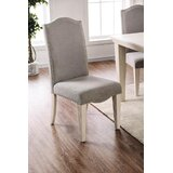 Daniel Upholstered Solid Wood Side Chair in Gray/White (Set of 2) by One Allium Way®