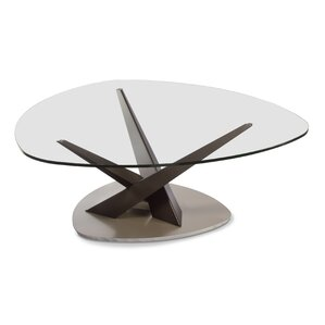 Crystal Triangular Coffee Table by Elite Modern