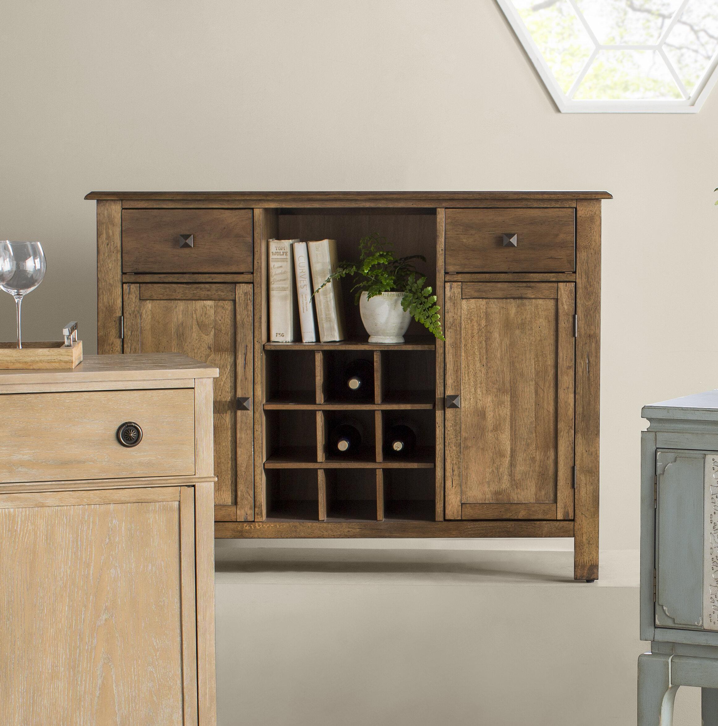 Aisha 48 Wide 2 Drawer Rubberwood Wood Server Reviews Joss Main