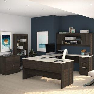 Latitude Run Barts 3 Piece U-Shape Desk Office Suite