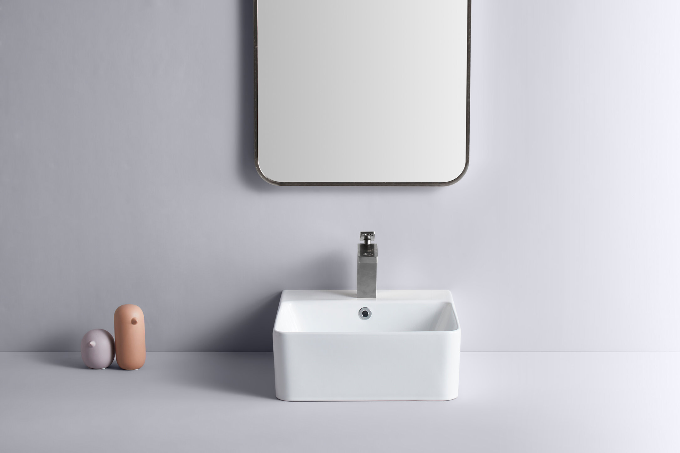 Itapo White Ceramic Square Vessel Bathroom Sink With Faucet And Overflow Wayfair