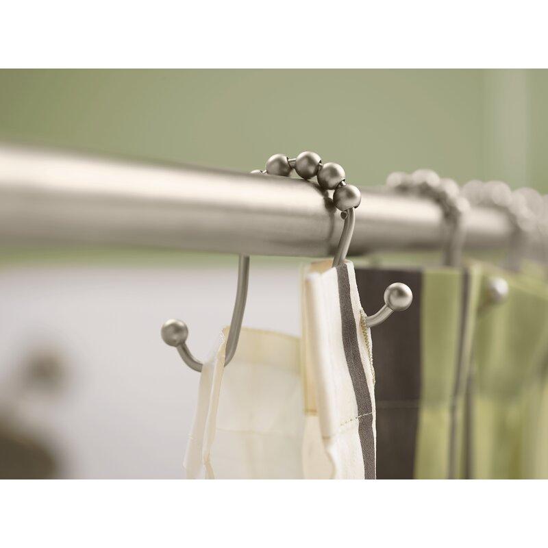 Basics Shower Curtain Hooks Nickel Dual Sided Hooks